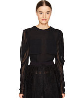 Vera Wang - Long Sleeve Blouse with Patch Pocket