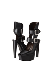 Vera Wang - Stacked High Heel with Double Ankle Straps