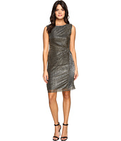 Ellen Tracy - Galaxy Metallic Dress w/ Side Knot Detail