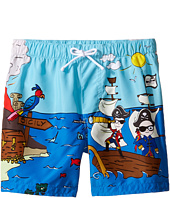 Dolce & Gabbana Kids - Mare Sicily Pirate Swim Trunk (Toddler/Little Kids)