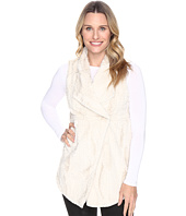 Dylan by True Grit - Silky Faux Fur Long Snap Vest