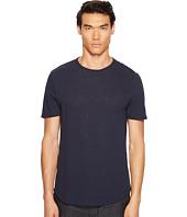 Vince - Raw Hem Short Sleeve Linen Blend Crew Neck T-Shirt