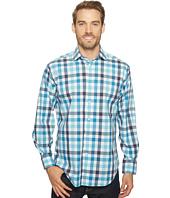 Thomas Dean & Co. - Long Sleeve Poplin Check Sport Shirt