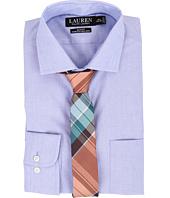LAUREN Ralph Lauren - Slim Fit Stretch Poplin Estate Spread Collar Dress Shirt