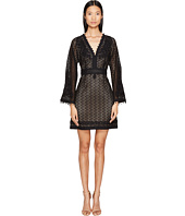 The Kooples - Robe Avec Broderies Decolete + Bas Robe + Manche Dress