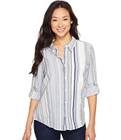Dylan by True Grit - Coast Stripes One-Pocket Roll Sleeve Shirt