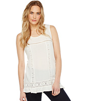 Dylan by True Grit - Crushed Rayon and Crochet Ruffle Tank Top