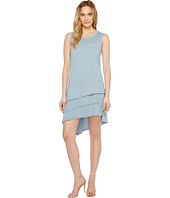 Dylan by True Grit - Luxe Cotton Slub Three Tiers Tank Dress