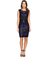 Sangria - Cap Sleeve Sequin Lace Sheath