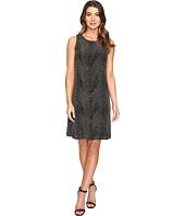 Sangria - Sleeveless Sequin Shift Dress