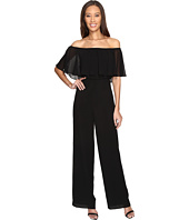 Donna Morgan - Chiffon Jumpsuit with Elastic Ruffle Neckline