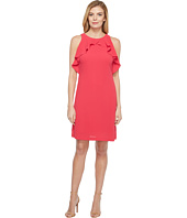 Jessica Simpson - Solid Dress with Ruffle Neck