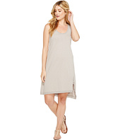 Dylan by True Grit - Luxe Cotton Slub Asymmetrical Slit Dress