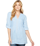 Dylan by True Grit - Pintuck Washed Linen Tunic