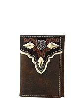 Ariat - Shield Ivory Trifold Wallet