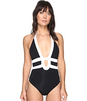 JETS by Jessika Allen - Classique Banded Halter One-Piece