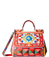 Dolce & Gabbana - Printed Leather Miss Sicily Medium