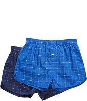 Lacoste - Authentics 2-Pack Signature Print Woven Boxers