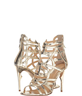 Jerome C. Rousseau - Metallic Leather Snake Stamp Heel