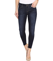 Liverpool - Alec Crop Raw Hem Vintage Super Comfort Stretch Denim in Vintage Super Dark