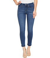 Liverpool - Avery Crop with Released Hem on Silky Soft Denim in Coronado Mid