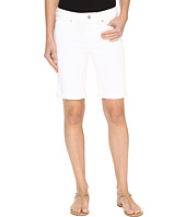 Liverpool - Hayden Rolled-Cuff Bermuda on Super Soft Stretch Denim in Bright White