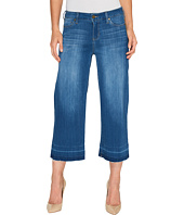 Liverpool - Layla Wide Leg Crop with Released Hem on Silky Soft Denim in Lanier Mid Blue