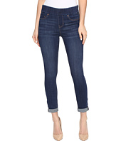 Liverpool - Sienna Pull-On Rolled-Cuff Crop in Silky Soft Denim in Elysian Dark