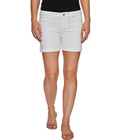 Liverpool - Vickie Shorts Rolled-Cuff in Stretch Peached Twill in Bright White