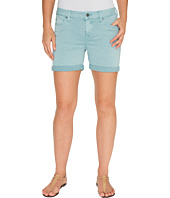 Liverpool - Vickie Shorts Rolled-Cuff in Stretch Peached Twill in Slate Blue