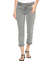 Liverpool - Michelle Rolled-Cuff Capris in Pigment Dyed Slub Stretch Twill in Sharkskin