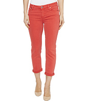 Liverpool - Michelle Rolled-Cuff Capris in Pigment Dyed Slub Stretch Twill in Ribbon Red