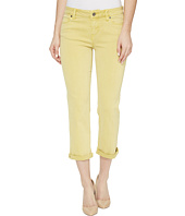 Liverpool - Michelle Rolled-Cuff Capris in Pigment Dyed Slub Stretch Twill in Butterscotch
