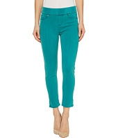 Liverpool - Sienna Pull-On Rolled-Cuff Capris in Pigment Dyed Slub Stretch Twill in Fanfare Blue