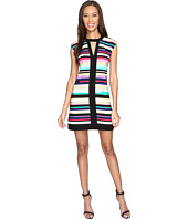 Laundry by Shelli Segal - Printed Shift Dress w/ Black Banding