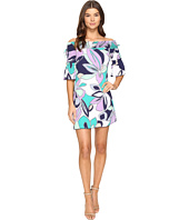 Laundry by Shelli Segal - Off the Shoulder Print Dress w/ Smocking