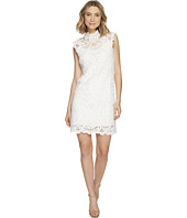 Laundry by Shelli Segal - Mock Neck Venise Dress w/ Scallop Detail