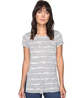 kensie - Speckled Striped Tee Top KS2K3467