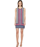 Laundry by Shelli Segal - Printed Sleeveless Trapeze Dress w/ Contrast