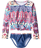 Seafolly Kids - Mermaidia Cropped Rashie Set (Toddler/Little Kids)