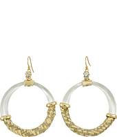 Alexis Bittar - Woven Raffia Hoop Wire Earrings