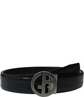 Giorgio Armani - Croc Stamped/Liscio Belt