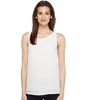 Vince Camuto - Sleeveless Sheer Embroidered Stripe Blouse