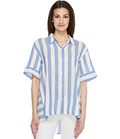 Vince Camuto - Bold Stripe Oversized Button Down Shirt