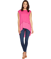 Vince Camuto - Extended Shoulder High-Low Mix Media Layered Blouse