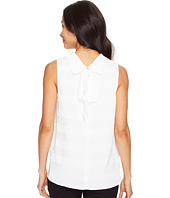 Vince Camuto - Sleeveless Mock Neck Shadow Stripe Blouse