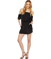 Vince Camuto - Short Sleeve Cold-Shoulder Rumple Romper
