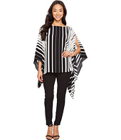 Vince Camuto - Linear Accordion Stripe Poncho