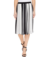 Vince Camuto - Linear Accordion Stripe Pleated Skirt