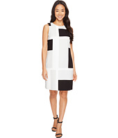 Vince Camuto - Sleeveless Abstract Grid Shift Dress